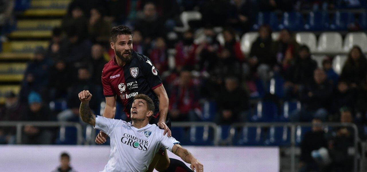 Pavoletti Cagliari Genoa stacco lapresse 2019