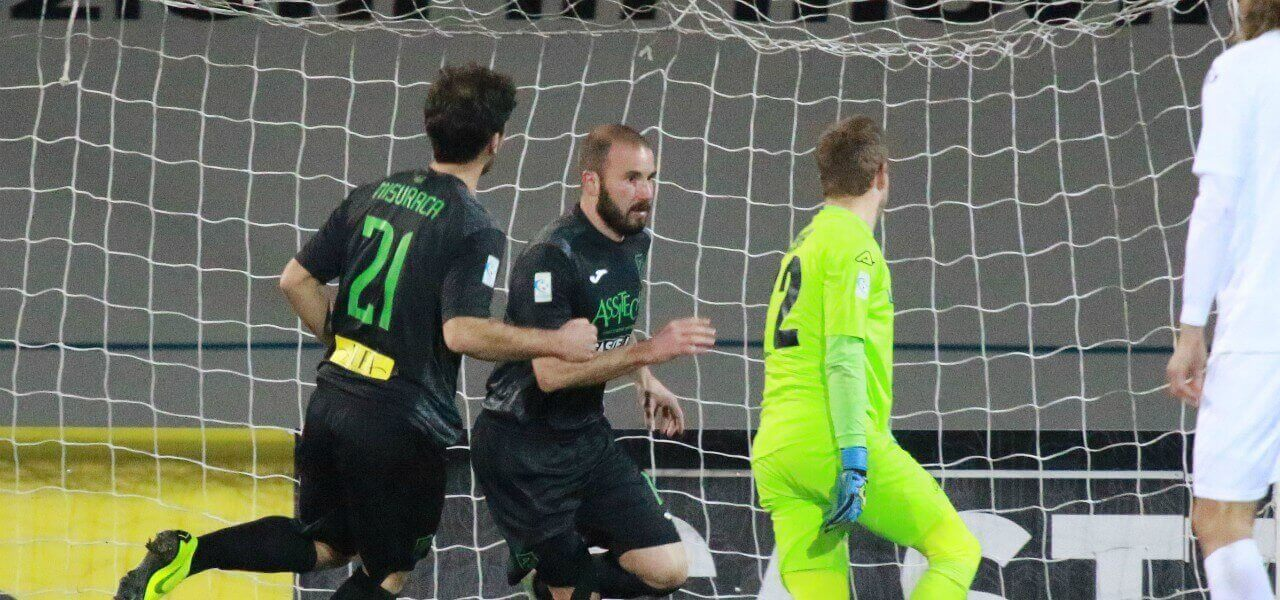 Berrettoni Misuraca Pordenone gol lapresse 2019 1