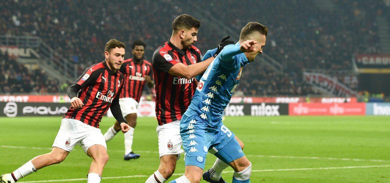 Milik Musacchio Milan Napoli lapresse 2019