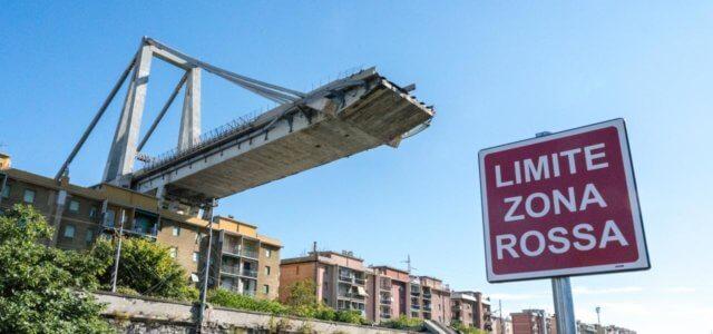 Ponte Morandi, la zona rossa