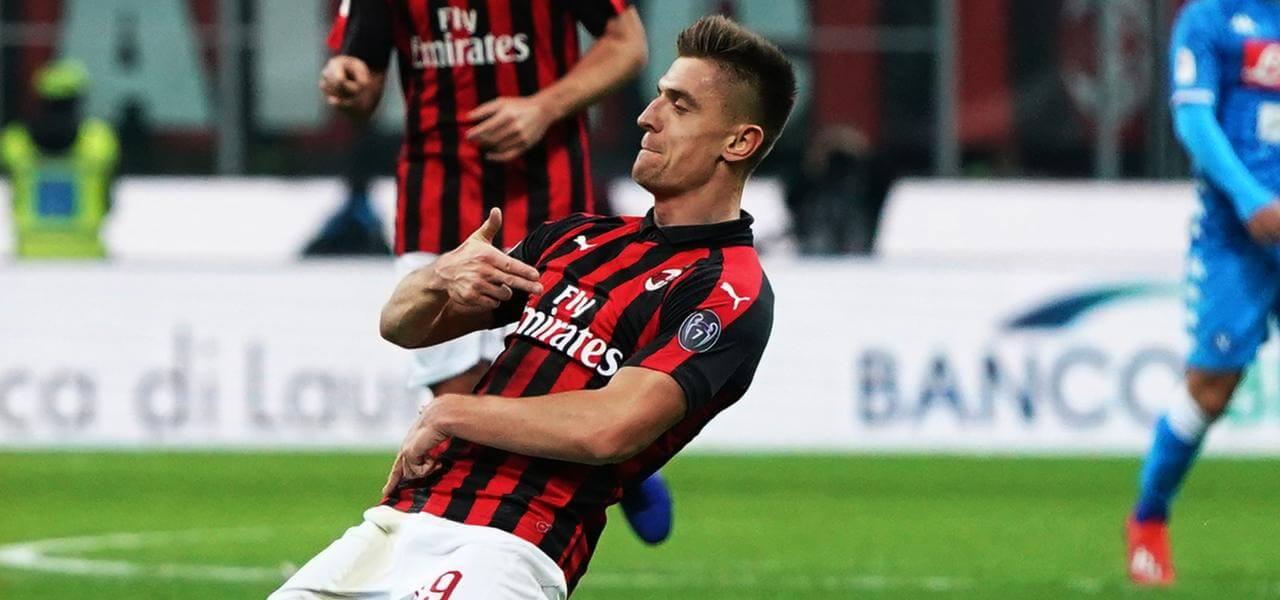 Gol di Piatek contro il Napoli