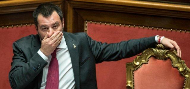 Matteo Salvini al Senato