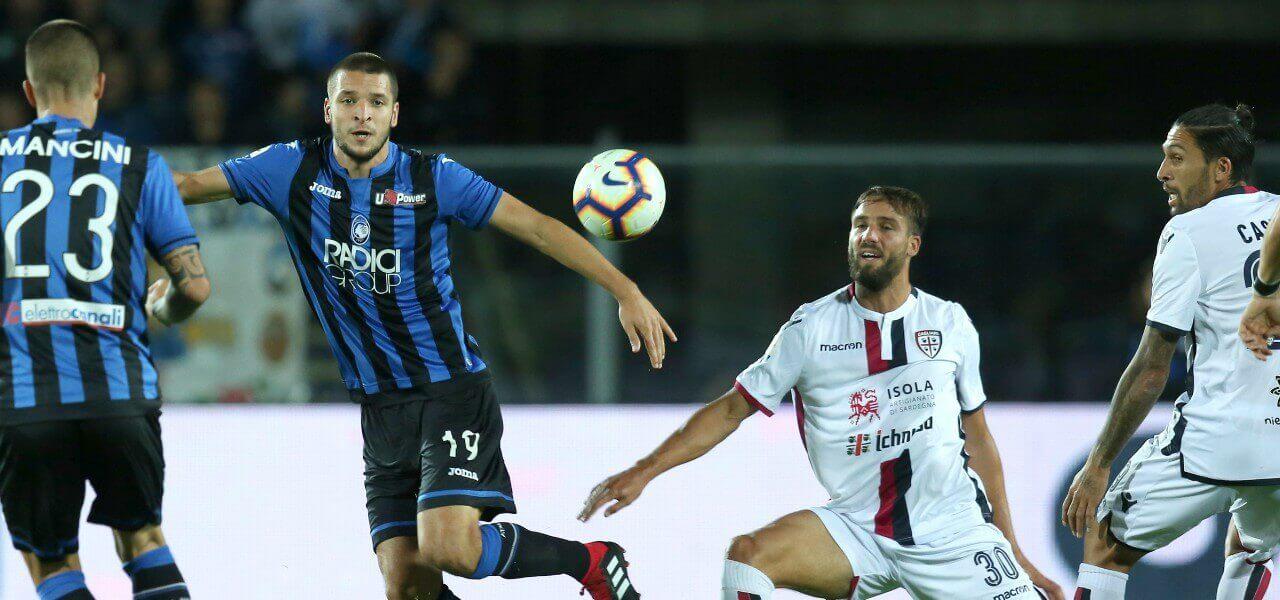 Mancini Djimsiti Pavoletti Atalanta Cagliari lapresse 2019