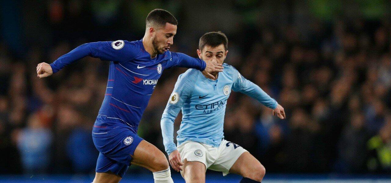 Hazard Bernardo Silva Chelsea City lapresse 2019