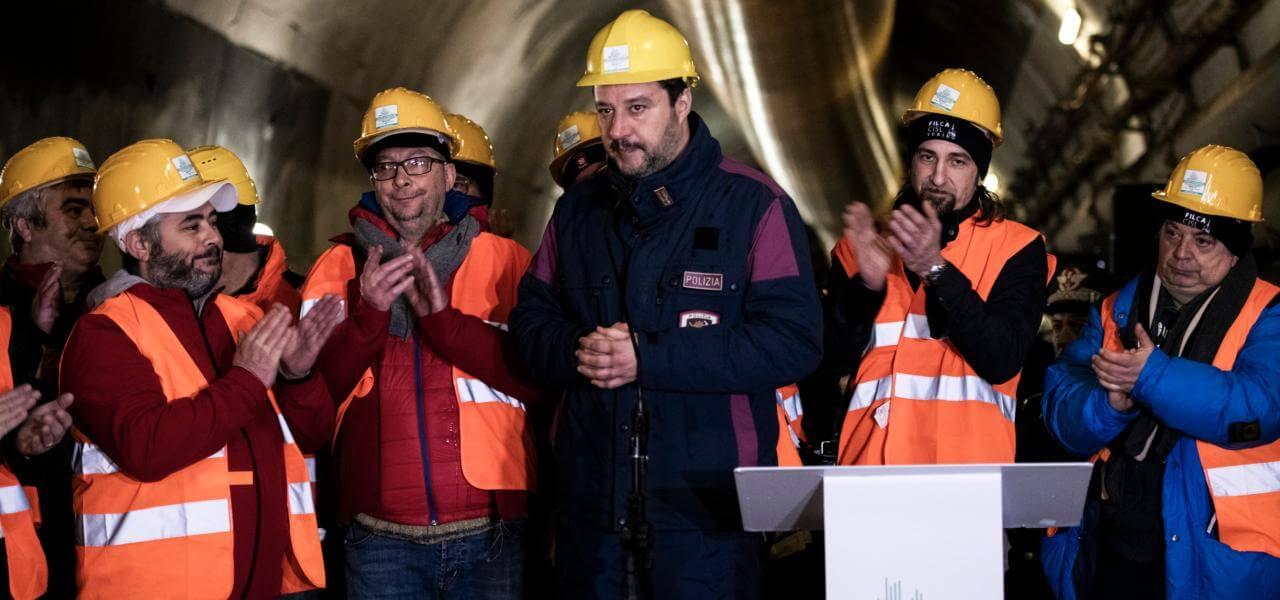 Matteo Salvini a Chiomonte