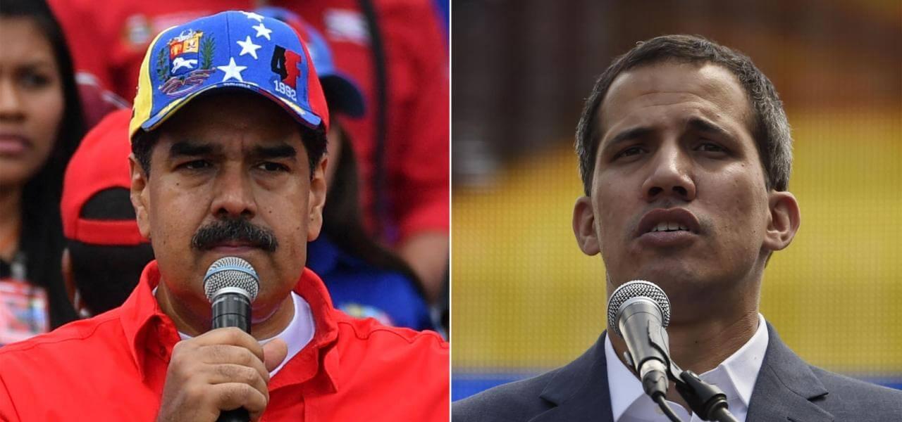 Maduro e Guaidó
