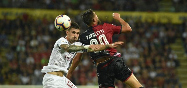 Romagnoli Pavoletti Milan Cagliari lapresse 2019 640x300