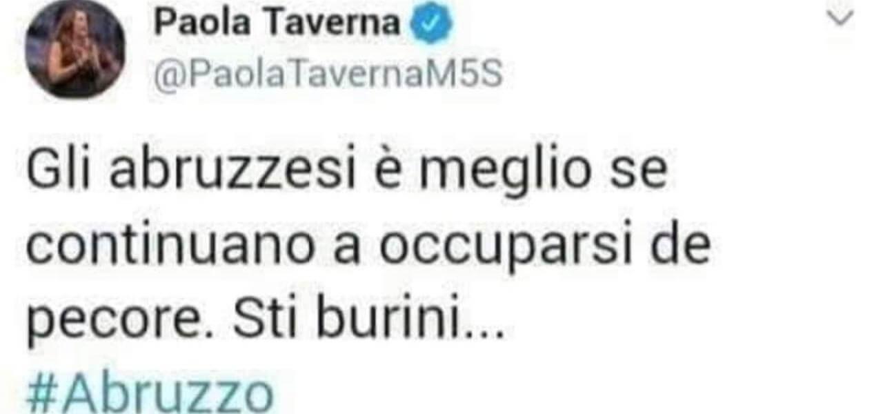 Tweet fake di Paola Taverna