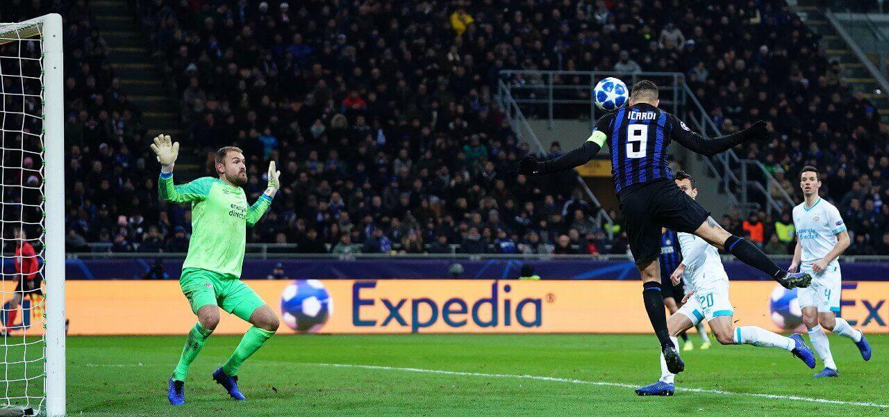 Icardi Zoet gol Inter Psv lapresse 2019