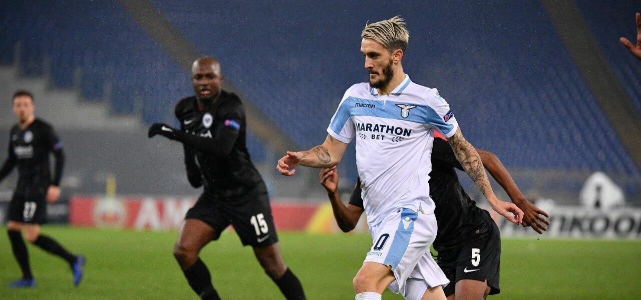 Luis Alberto Lazio Eintracht lapresse 2019