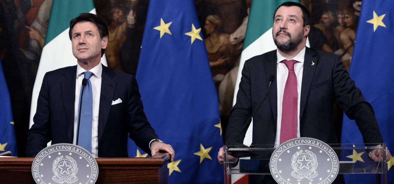 Salvini e Conte a Palazzo Chigi