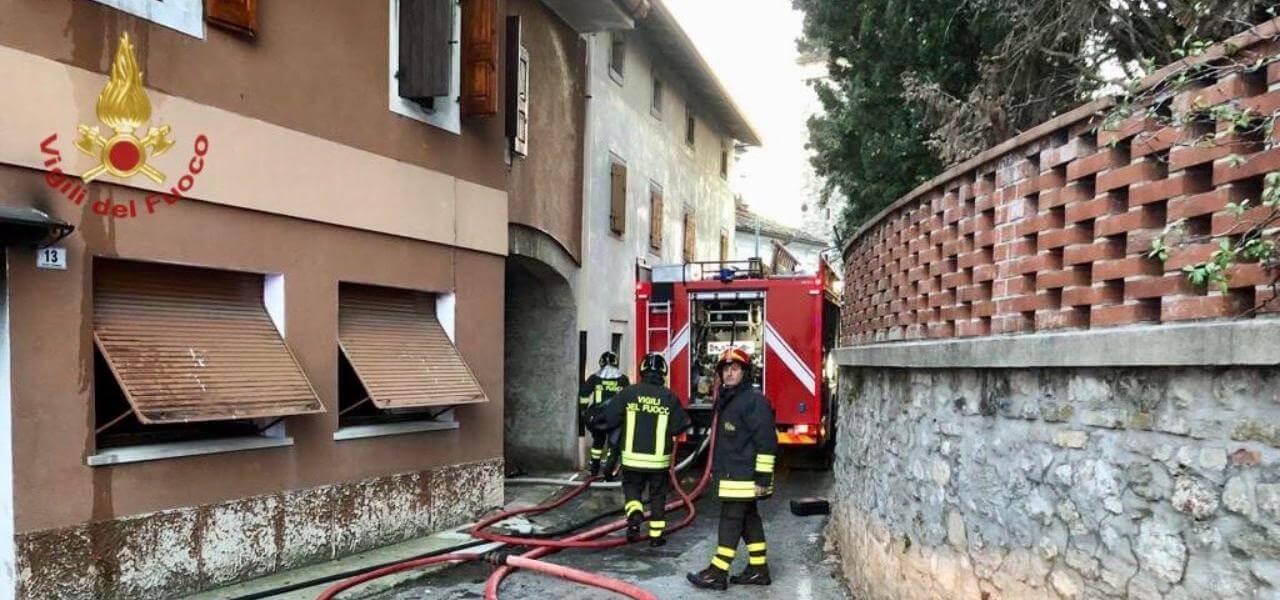 incendio a Pordenone