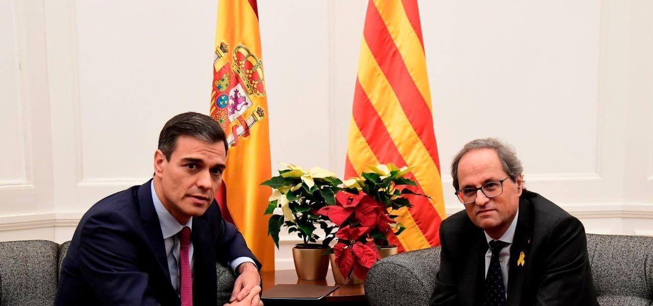 Sanchez incontra il catalano Torra