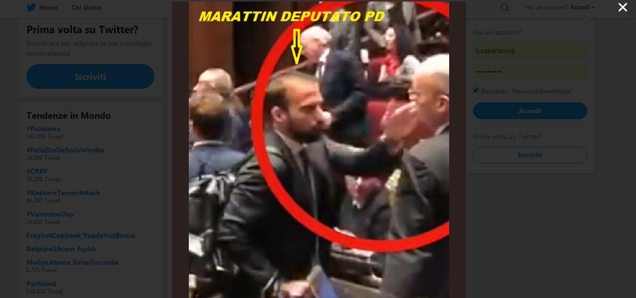 Marattin schiaffeggia deputato M5S