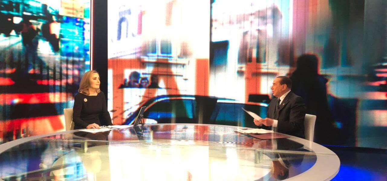Stasera Italia: Palombelli e Berlusconi