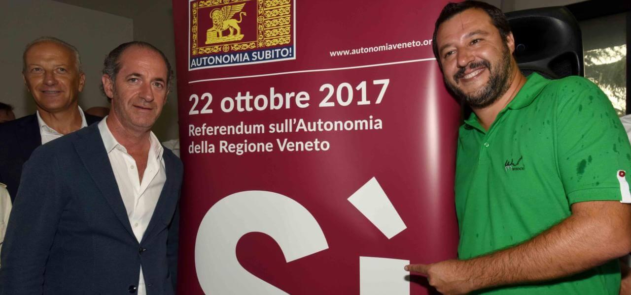 Zaia e Salvini in Veneto