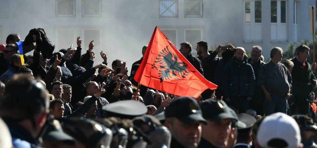 albania scontri tirana