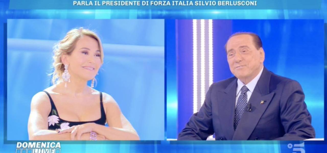 Silvio Berlusconi a Domenica Live