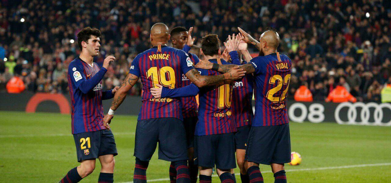 Alena Boateng Messi Barcellona esultanza lapresse 2019