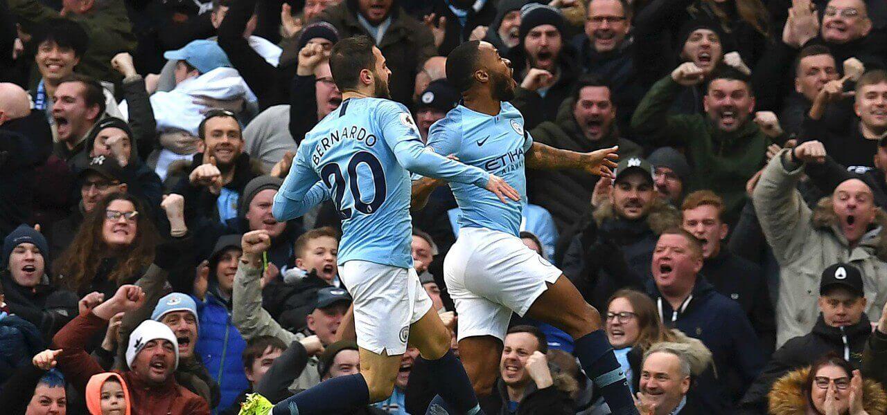 Bernardo Sterling Manchester City gol lapresse 2019