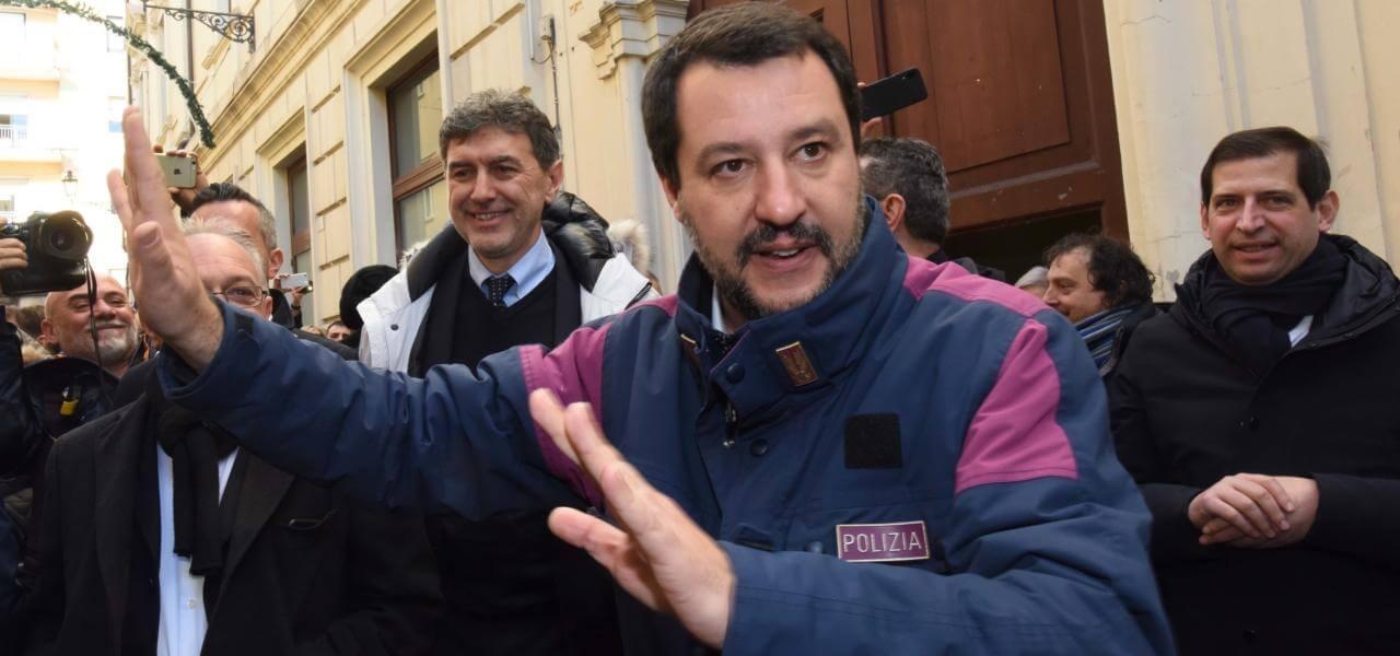 Matteo Salvini in Abruzzo