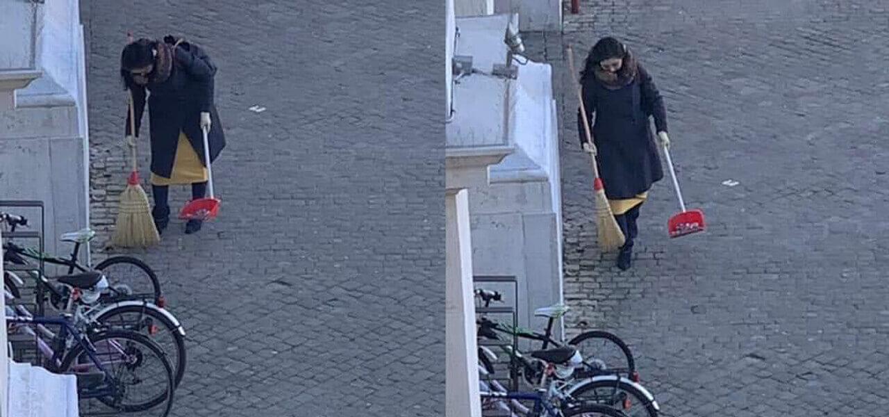 Spazzina anonima di Pesaro, chi è?