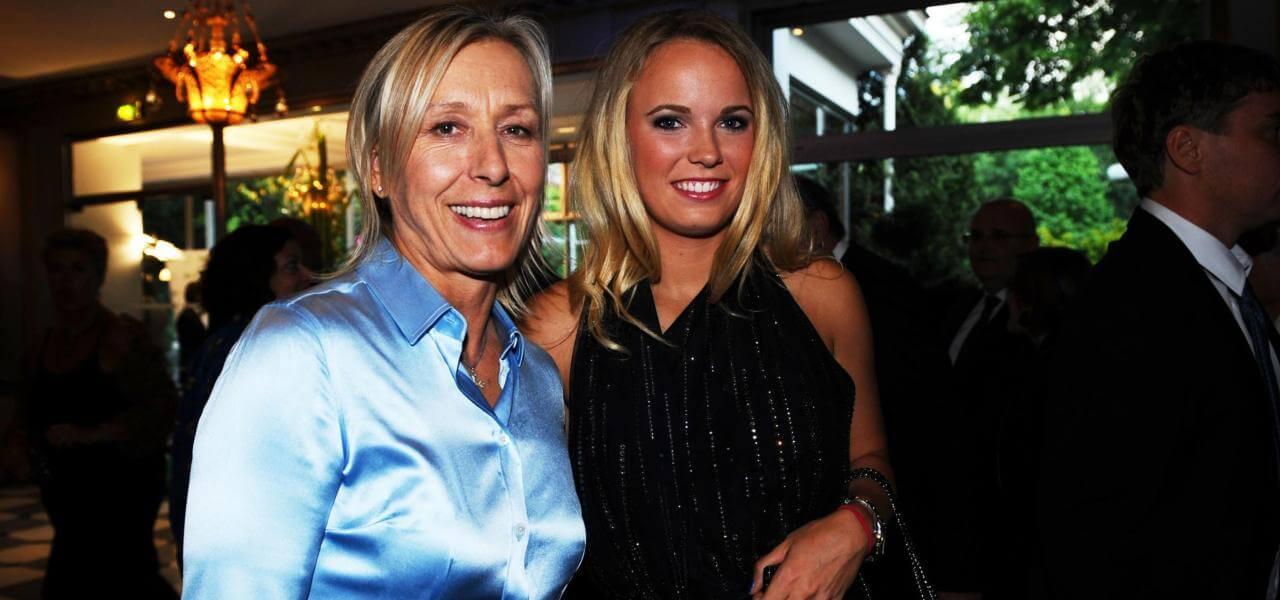 Martina Navratilova e Caroline Wozniacki