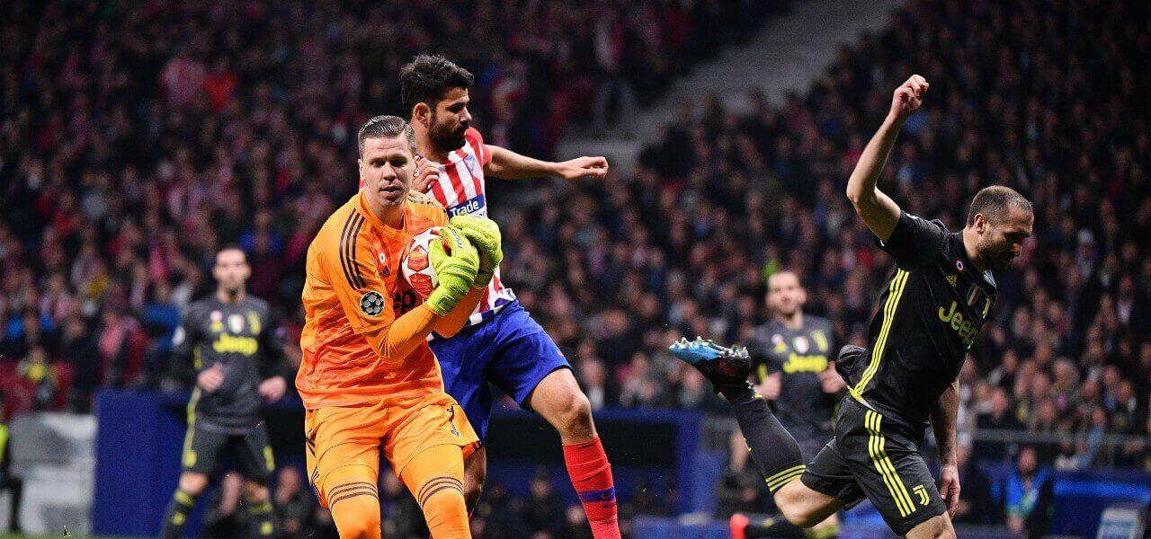 Szczesny Diego Costa Atletico Juventus lapresse 2019