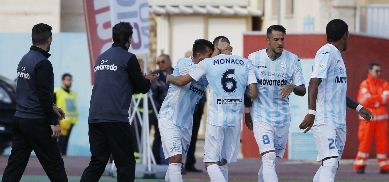Virtus Francavilla gol esultanza lapresse 2019
