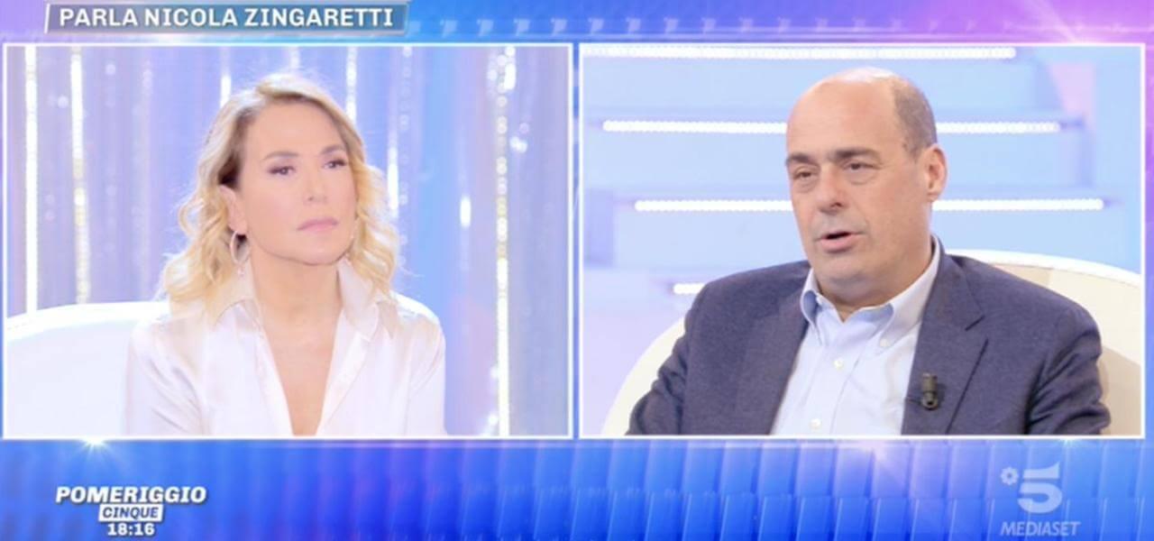 Nicola Zingaretti a Pomeriggio 5