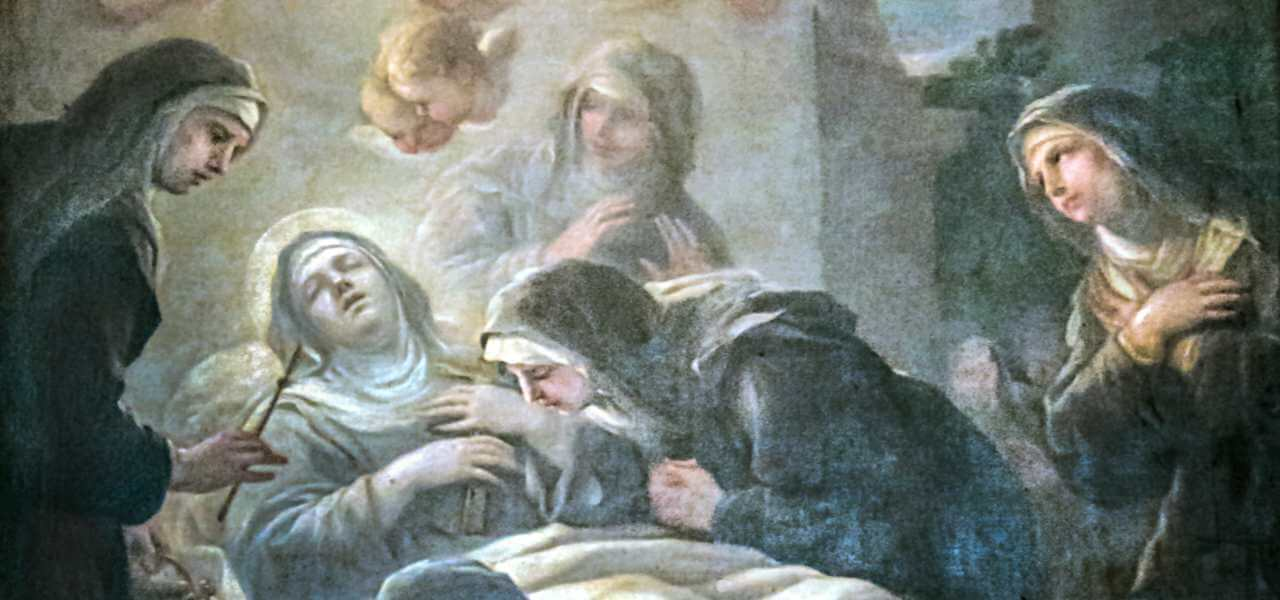 La morte di Santa Scolastica