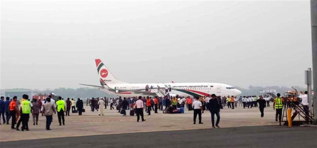 biman bangladesh airlines aereo dirottato