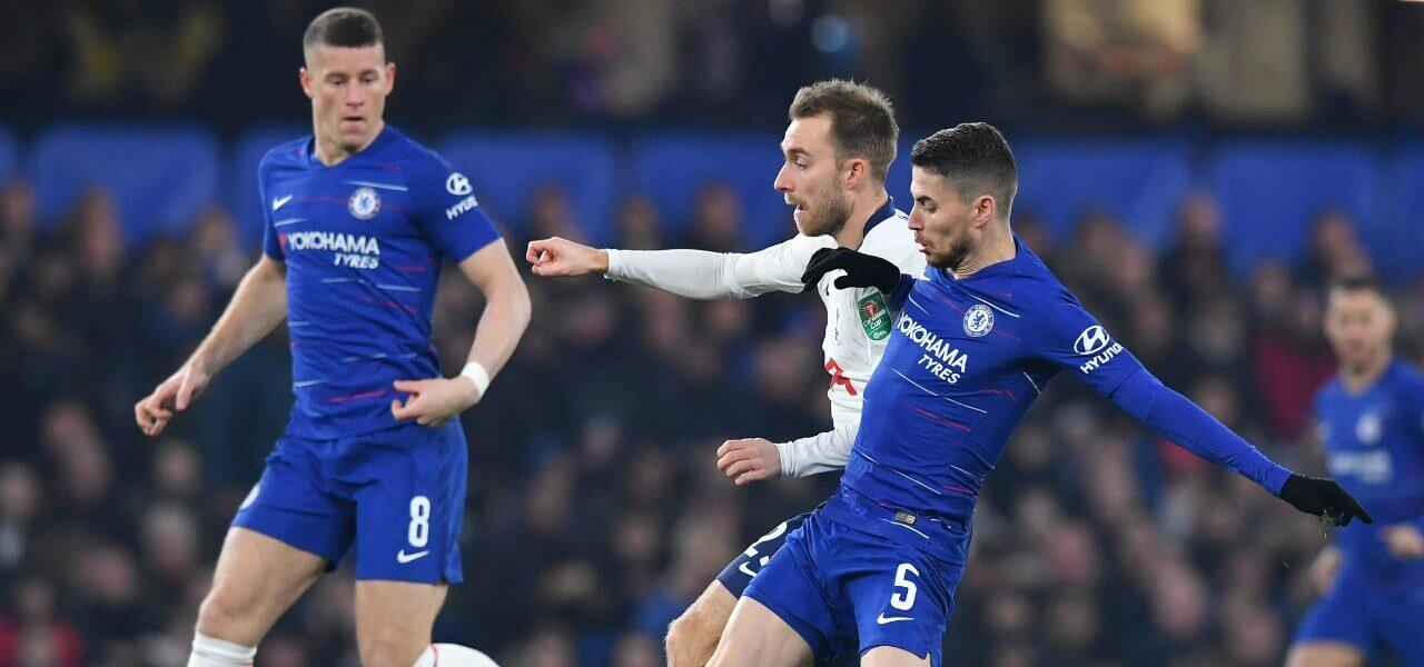 Un'immagine dell'ultimo derby fra Tottenham e Chelsea (foto La Presse)