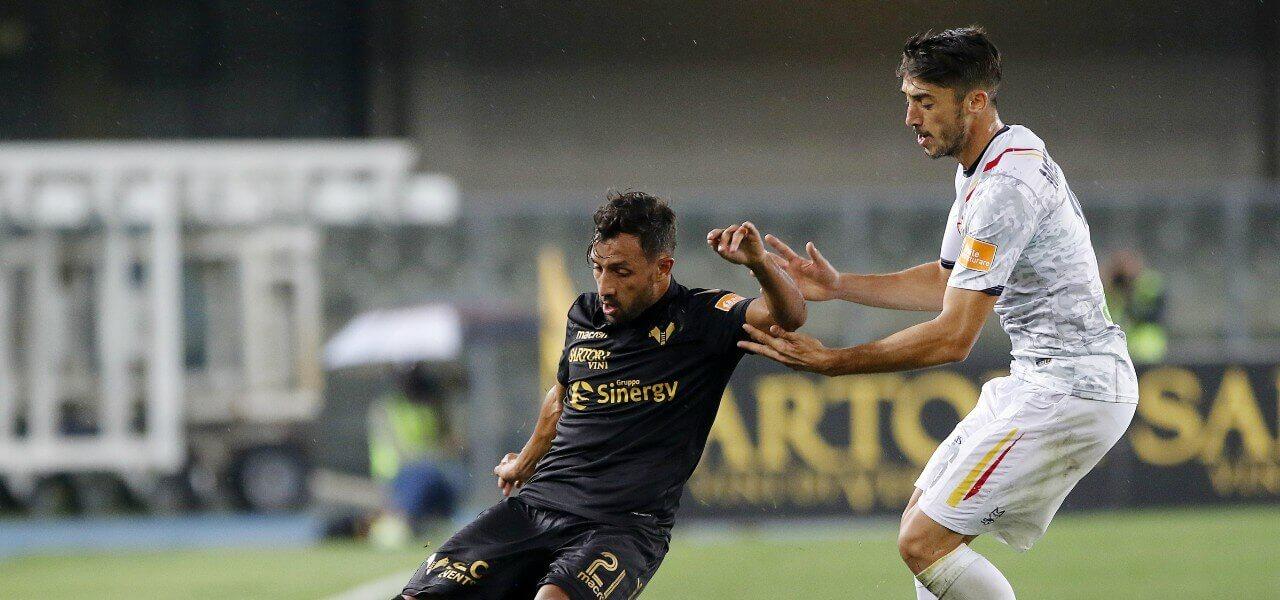 Laribi Meccariello Verona Lecce lapresse 2019