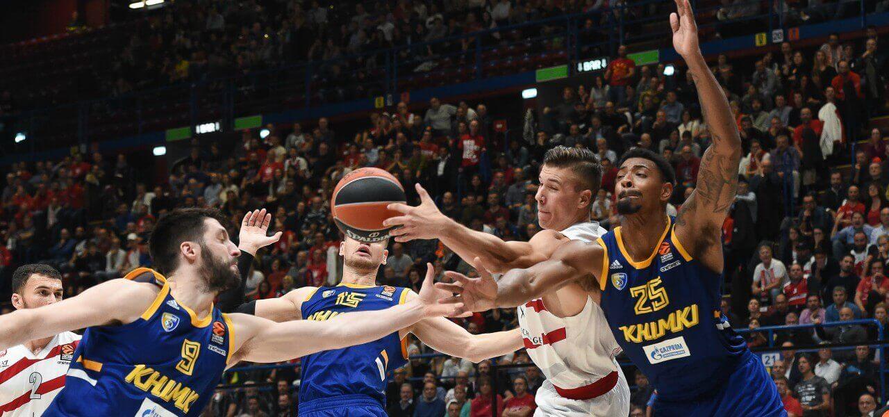 Tarczewski Olimpia Milano Khimki Eurolega lapresse 2019