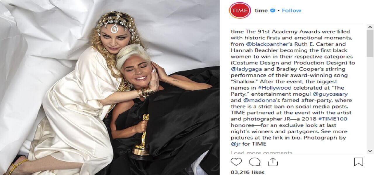 Lady Gaga e Madonna (Instagram Time)