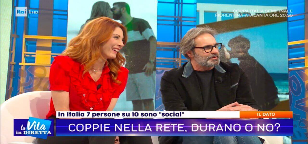 """85e10d469 Milena Miconi e Mauro Graiani a La Vita in Diretta parlano della loro  storia d'amore: """"Se ci sposiamo? Chissà…"""""""