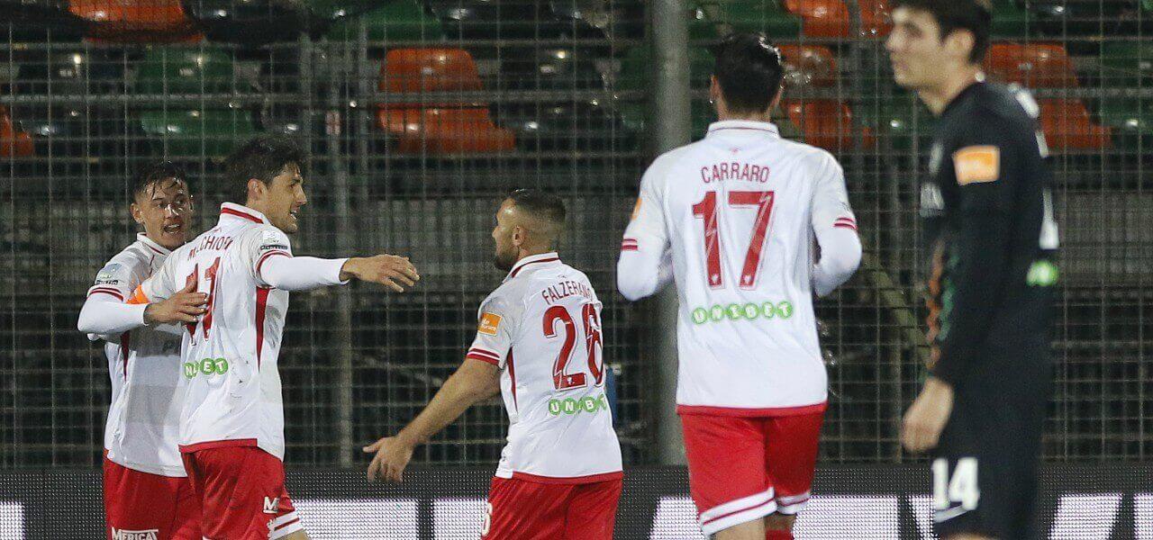 Melchiorri Falzerano Carraro Perugia gol lapresse 2019