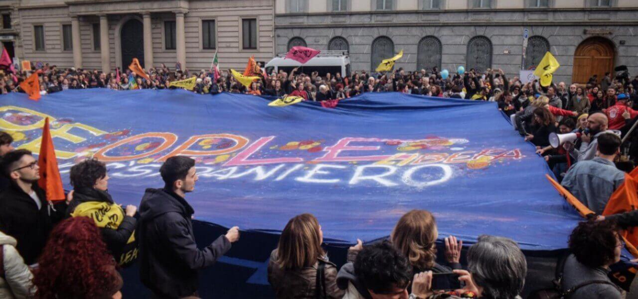 marcia antirazzista milano 2019 lapresse