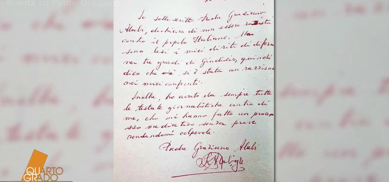 Lettera di Padre Graziano