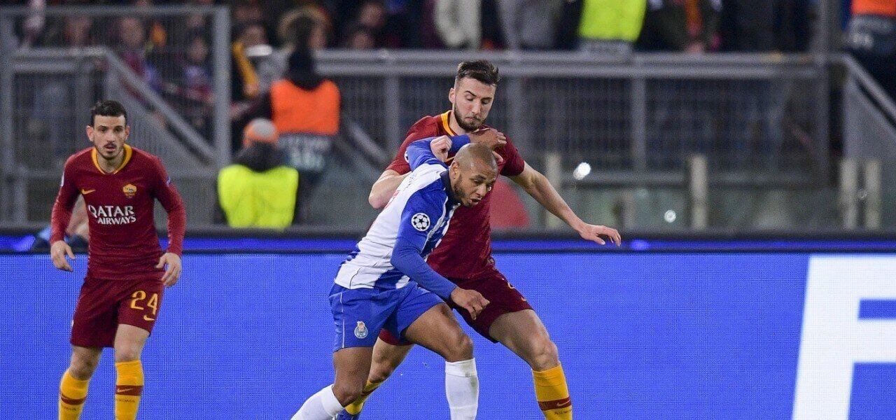 Cristante Brahimi Roma Porto lapresse 2019