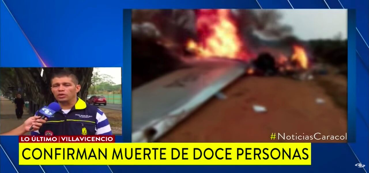 incidente aereo colombia