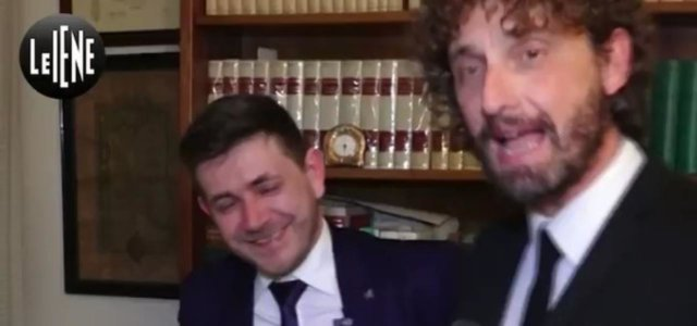 Frame dal servizio delle Iene con Bogdan Tibusche