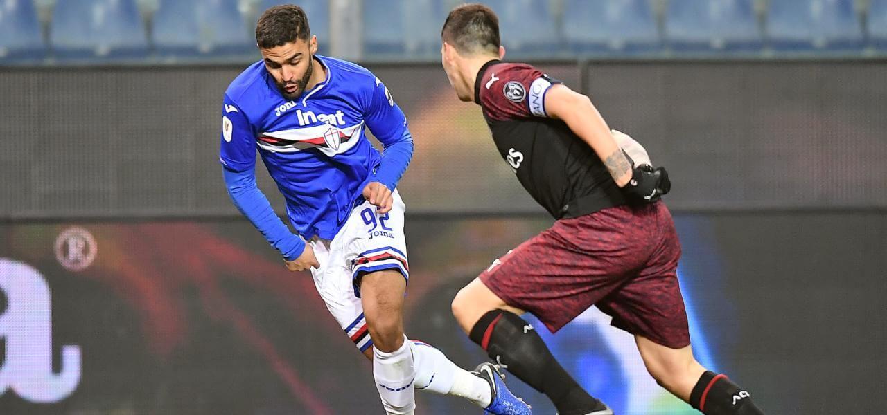 Defrel-Romagnoli in Sampdoria-Milan
