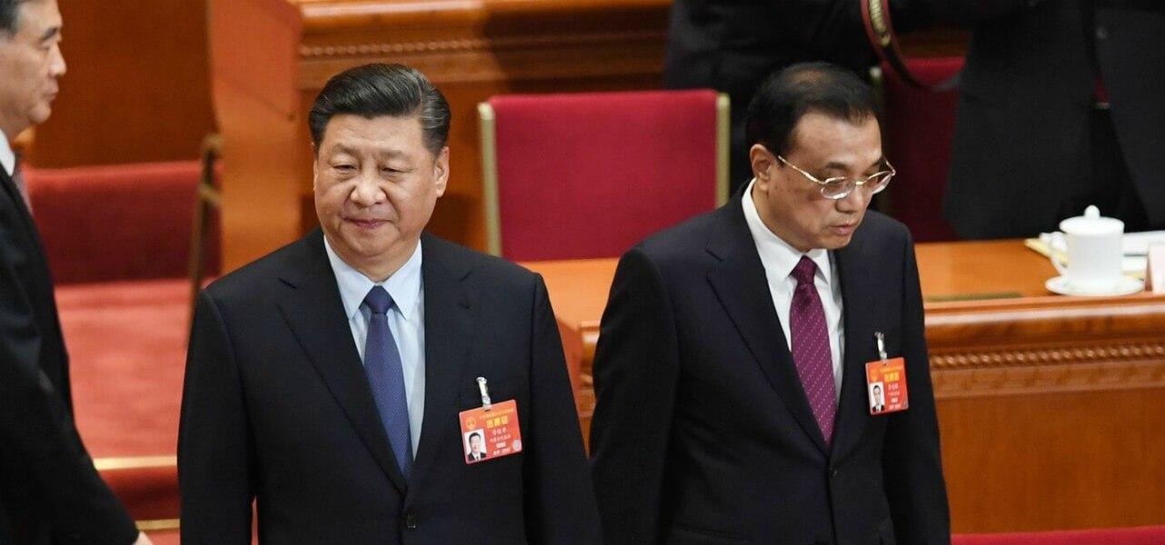 Il presidente cinese Xi Jinping con il premier Li Keqiang