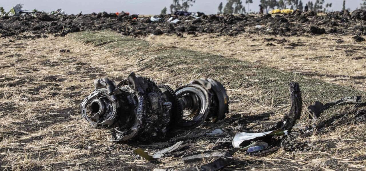 Resti aereo caduto in Etiopia