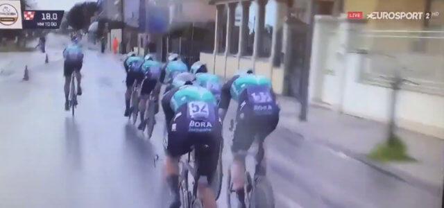 Incidente alla Tirreno-Adriatico: pedone investito