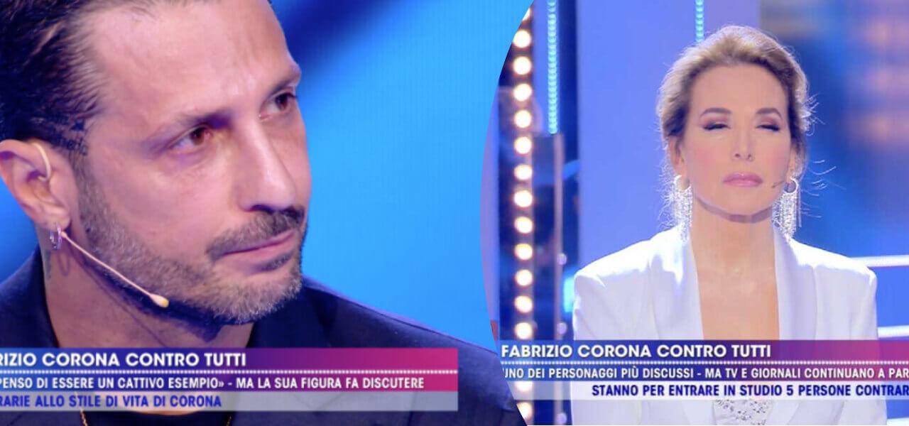Barbara dUrso scuse Fabrizio Corona