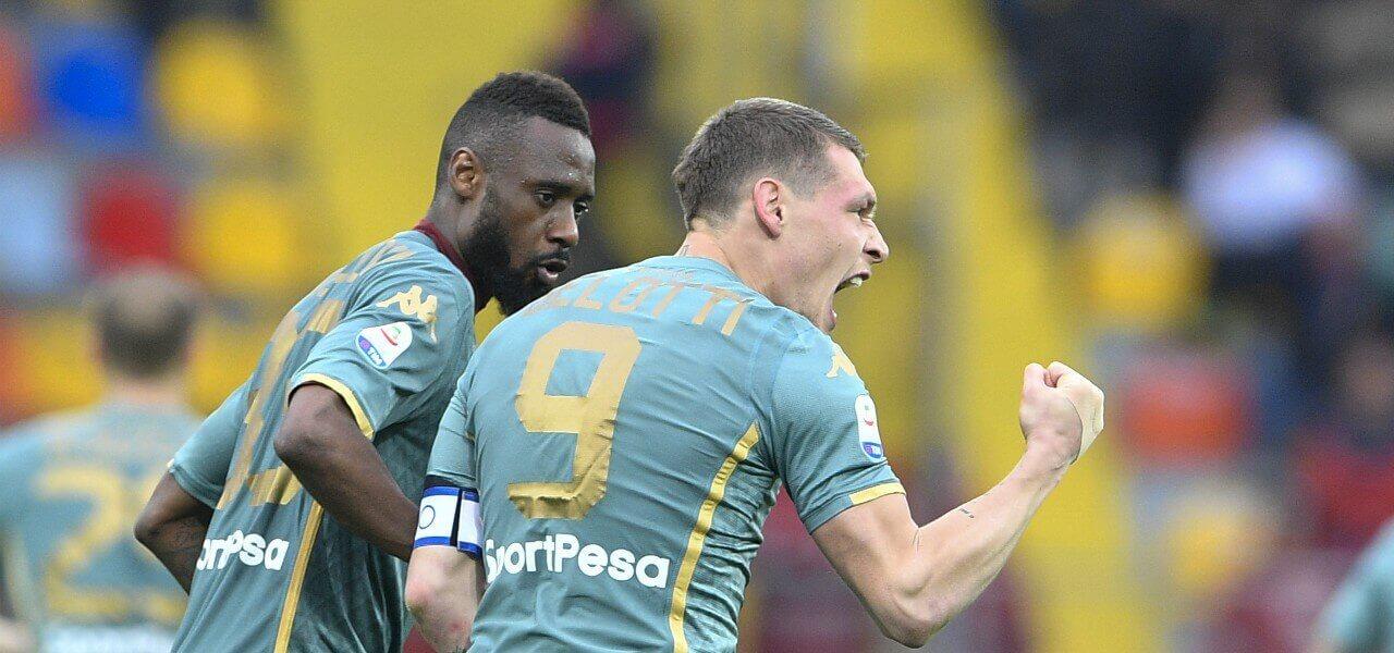Belotti urlo Nkoulou urlo Torino lapresse 2019