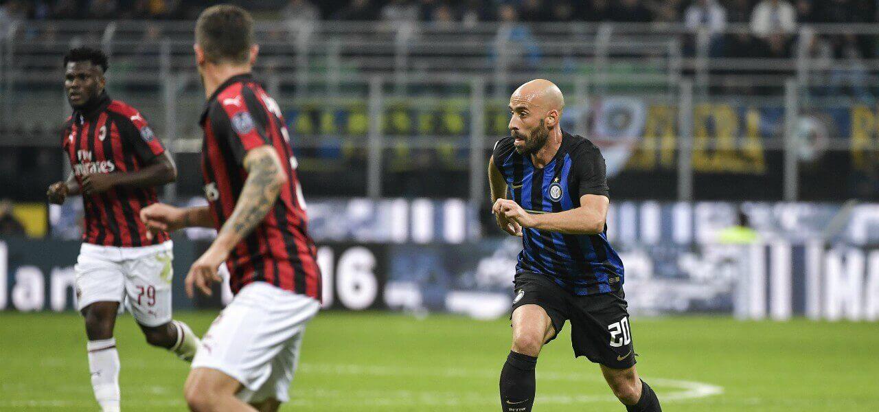Borja Valero Calabria Inter Milan lapresse 2019